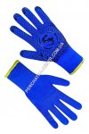 Gloves the warmed blue with PVC a point 69135