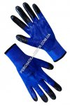 Synthetic blue gloves with blue-black nitrile coating 69032