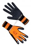 Gloves synthetic orange with a black incomplete foamed latex covering of FLL 9634