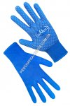 Synthetic blue gloves with PVC dots 69057