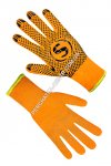 Gloves the warmed orange with PVC a point 69127