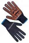 Black knitted gloves with PVC point 12 size 71112